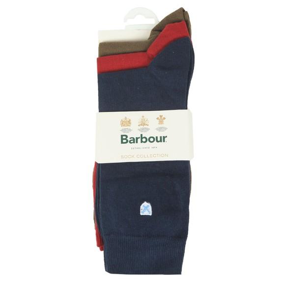 Barbour Lifestyle Mens Blue 3 Pack Socks