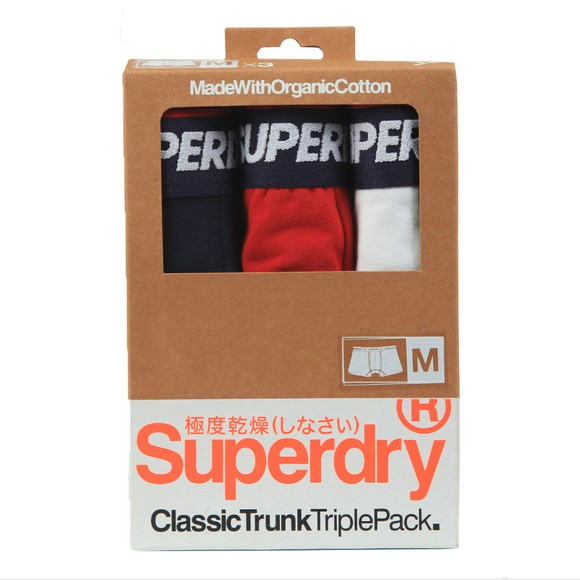 Superdry Mens Multicoloured Classic Trunk Triple Pack