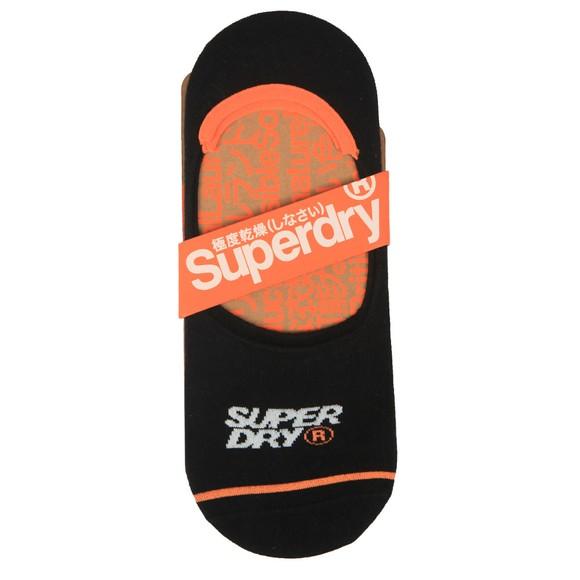 Superdry Mens Black No Show Trainer Sock 3 Pack