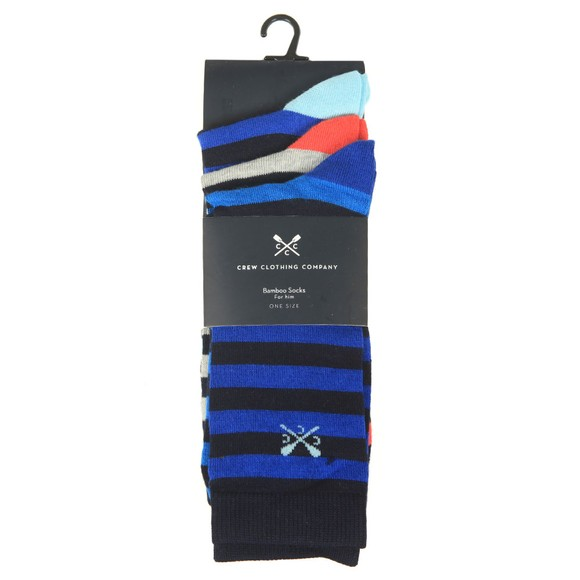 Crew Clothing Company Mens Blue 3 Pack Socks