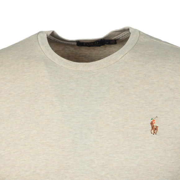 Polo Ralph Lauren Mens Beige Custom Slim Fit Pima Cotton T Shirt