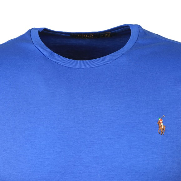 Polo Ralph Lauren Mens Blue Custom Slim Fit Pima Cotton T Shirt