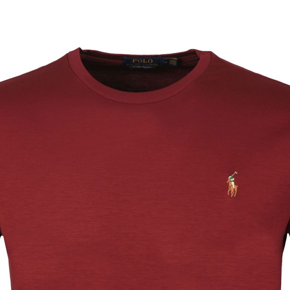 Polo Ralph Lauren Mens Red Custom Slim Fit Pima Cotton T Shirt