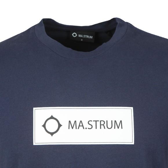 Ma.Strum Mens Blue Icon Box Logo T-Shirt