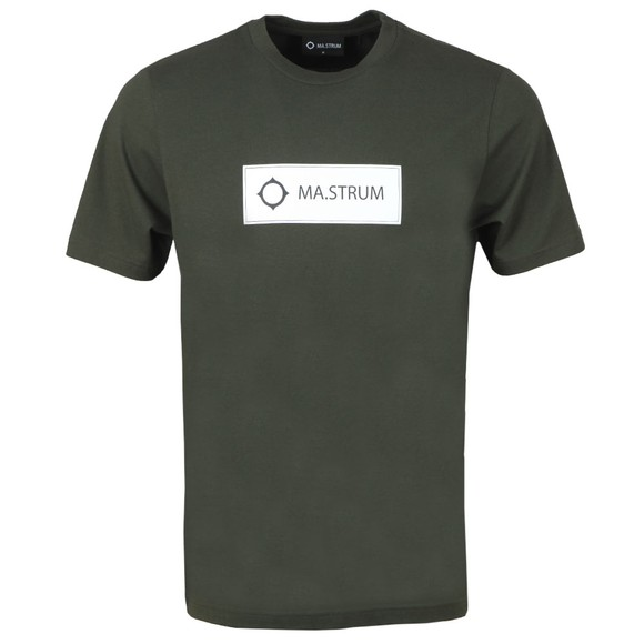 Ma.Strum Mens Green Icon Box Logo T-Shirt