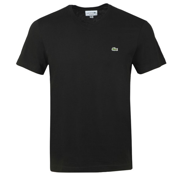 Lacoste Mens Black TH2036 V Neck T-Shirt