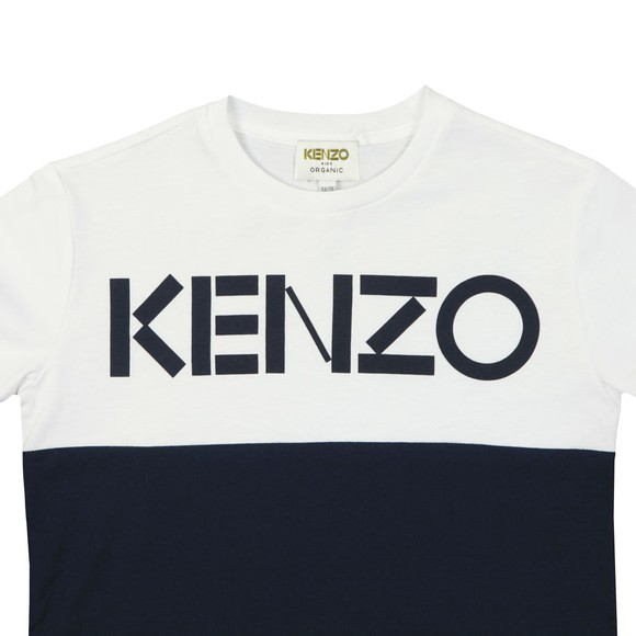Kenzo Kids Boys Blue Colour Block Sport Line T Shirt
