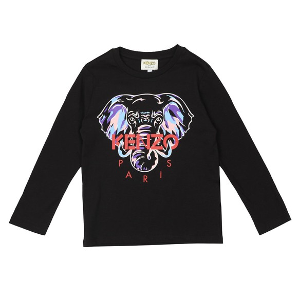 Kenzo Kids Girls Black Karina Long Sleeve T-Shirt