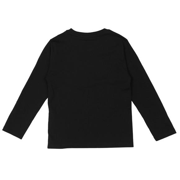Kenzo Kids Girls Black Karina Long Sleeve T-Shirt main image