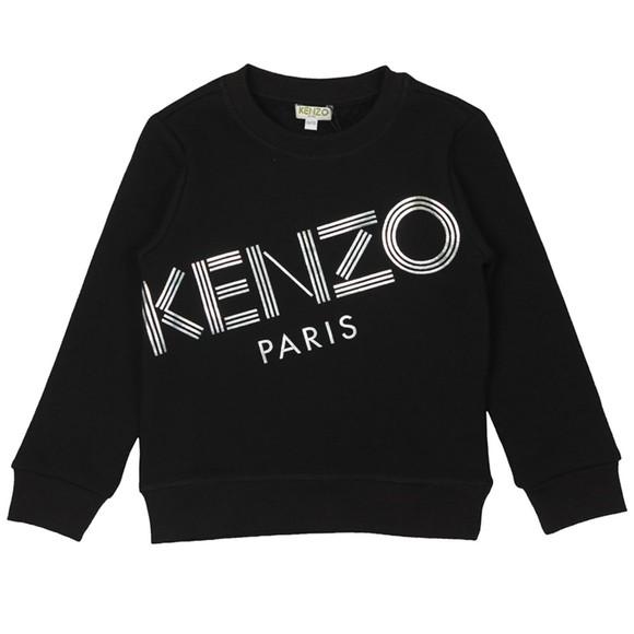 Kenzo Kids Girls Black Sport Line Crew Sweatshirt