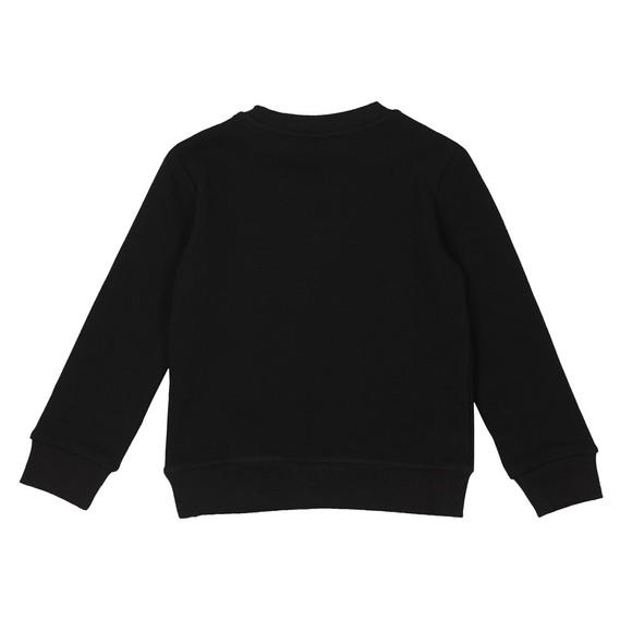 Kenzo Kids Girls Black Sport Line Crew Sweatshirt main image