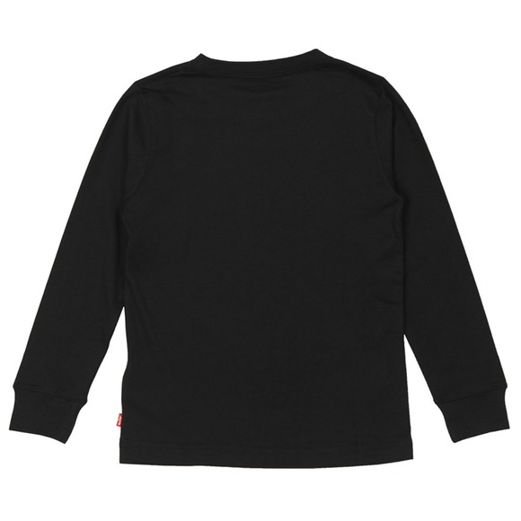 Levi's ® Boys Black Classic Long Sleeve Batwing T-Shirt