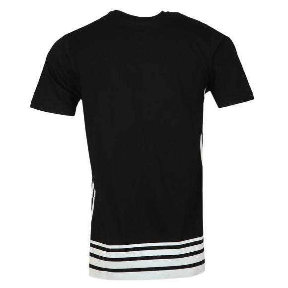 Luke 1977 Mens Black Right Angled Robert Striped T-Shirt main image
