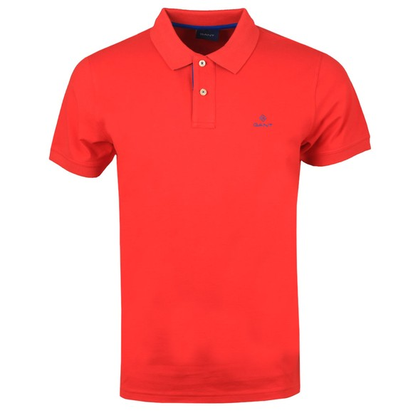 Gant Mens Red Contrast Collar Rugger