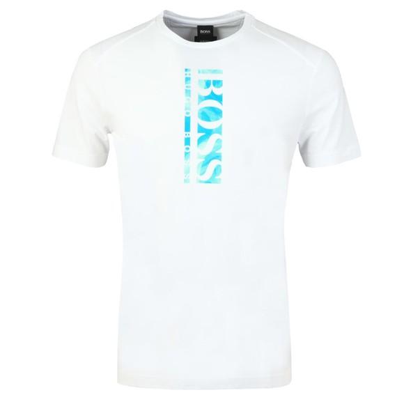 BOSS Mens White Athleisure Teeonic T-Shirt