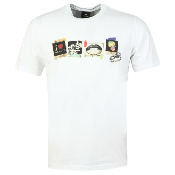 PS Paul Smith Mens White Sasquatch T-Shirt