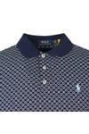 Polo Ralph Lauren Mens Blue Patterned Pima Cotton Polo Shirt