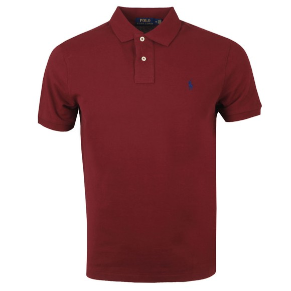 Polo Ralph Lauren Mens Red Custom Slim Fit Short Sleeve Polo Shirt main image