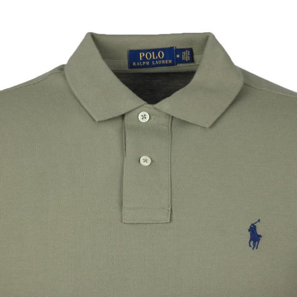 Polo Ralph Lauren Mens Green Custom Slim Fit Short Sleeve Polo Shirt