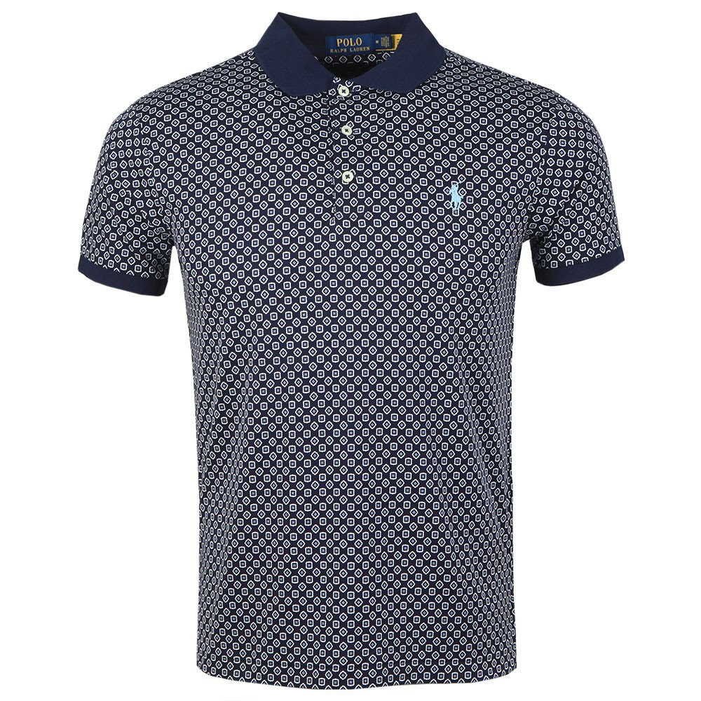 Patterned Pima Cotton Polo Shirt main image