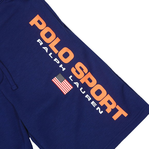 Polo Sport Ralph Lauren Mens Blue Side Logo Jersey Short