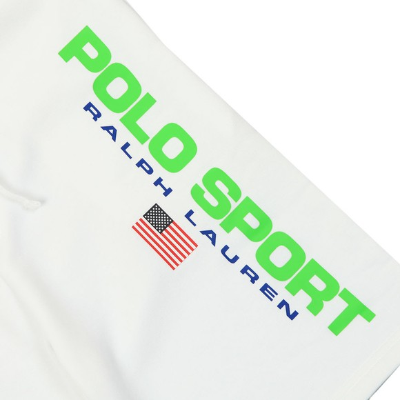 Polo Sport Ralph Lauren Mens White Side Logo Jersey Short