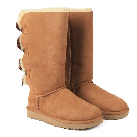 Ugg Womens Brown Bailey Bow Tall II Boot