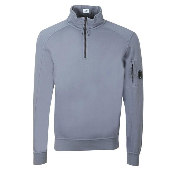 C.P. Company Mens Blue Half Zip Lightweight Sweatshirt
