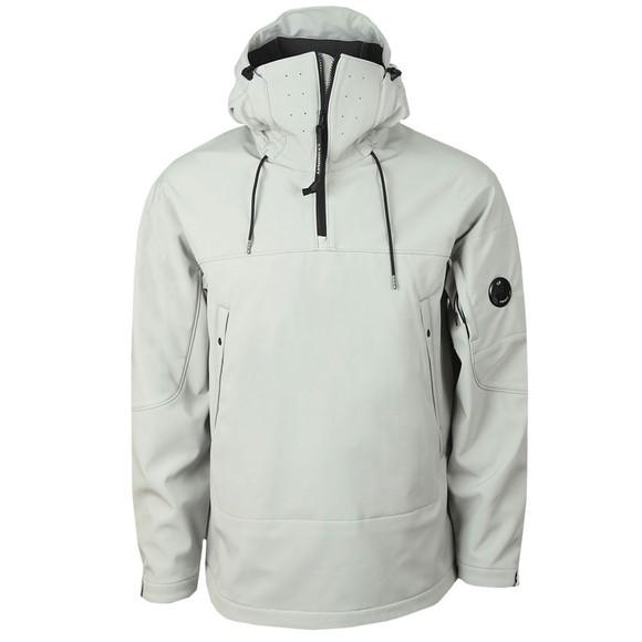 C.P. Company Mens Grey Half Zip Lens Softshell Pop Jacket