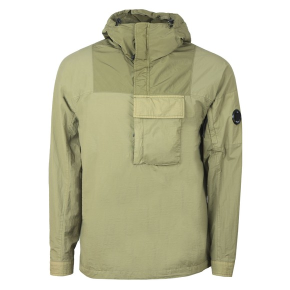 C.P. Company Mens Green Half Zip Single Pocket Nylon Jacket
