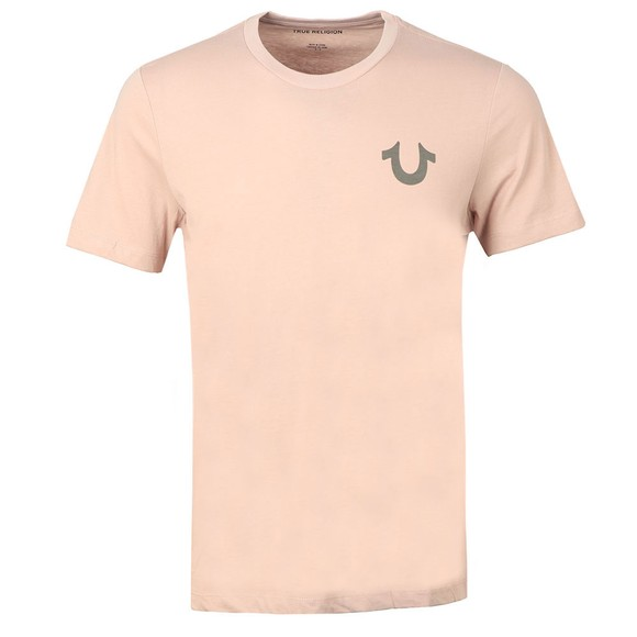 True Religion Mens Pink Crew Neck T-Shirt