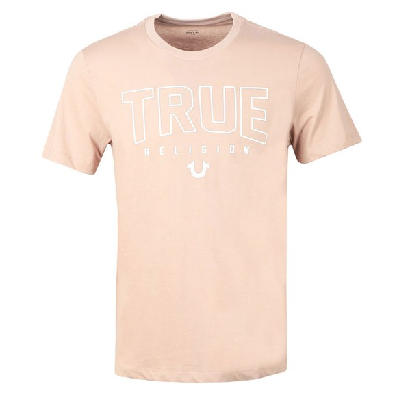 True Religion Mens Pink Branded Crew Neck T-Shirt