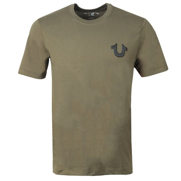 True Religion Mens Green Crew Logo T-Shirt main image