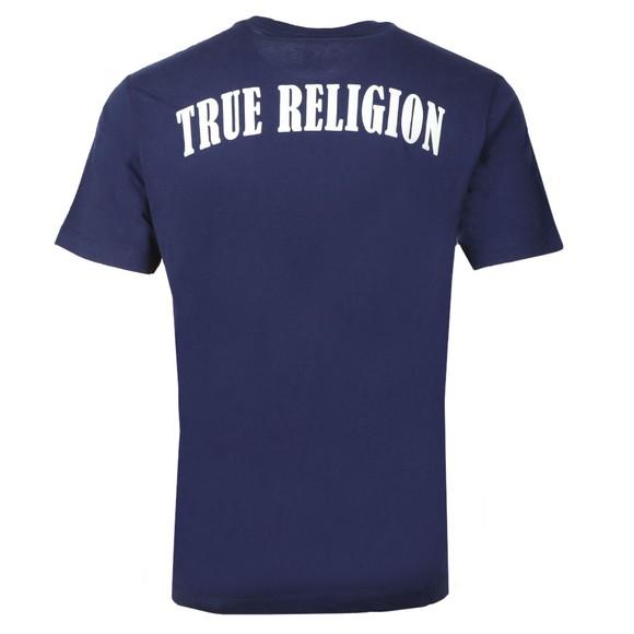 True Religion Mens Blue Crew Logo T-Shirt main image