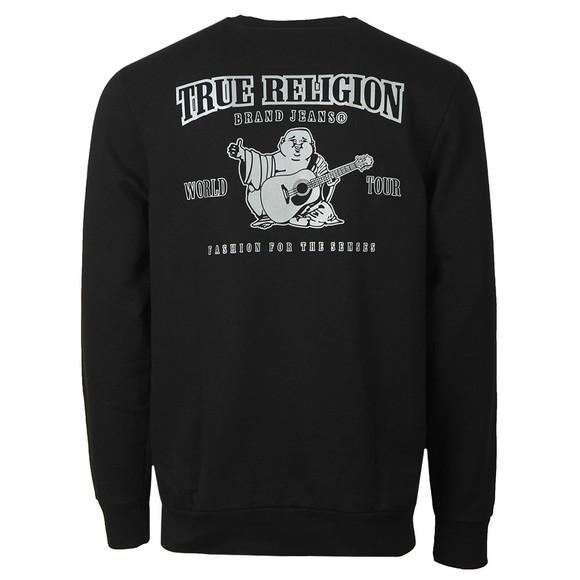 True Religion Mens Black Reflective Buddha Sweatshirt main image