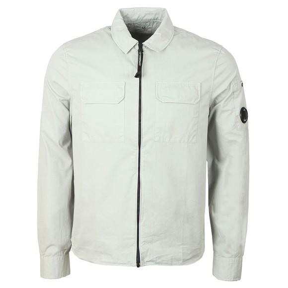 C.P. Company Mens Grey Twin Chest Pocket Overshirt
