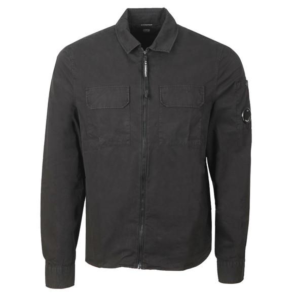 C.P. Company Mens Black Twin Chest Pocket Overshirt