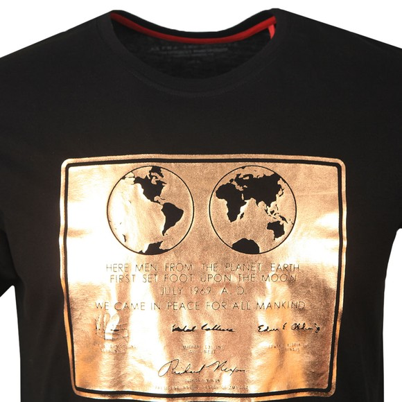 Alpha Industries Mens Black Lunar Plaque T-Shirt