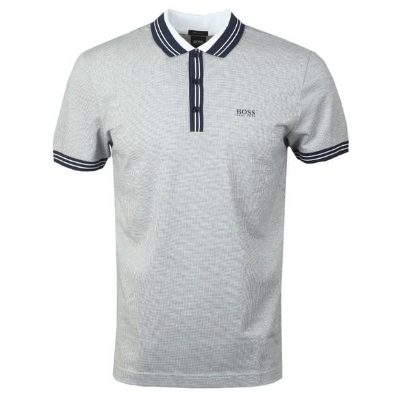 BOSS Mens Blue Athleisure Paddy 2 Polo Shirt