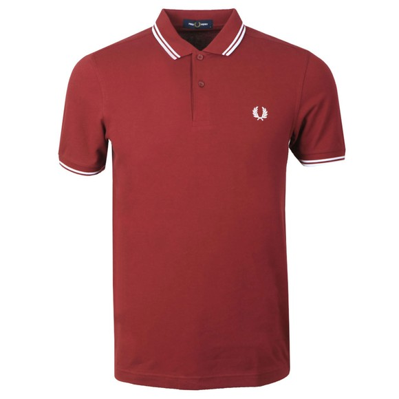 Fred Perry Mens Red Twin Tipped Polo Shirt