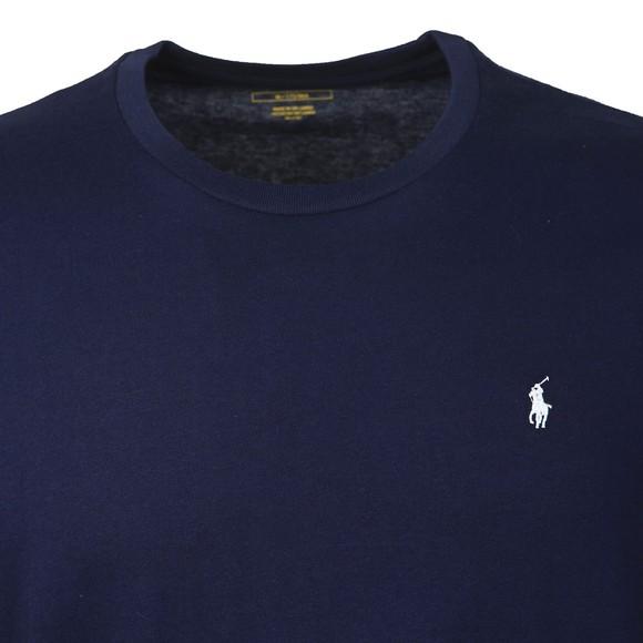 Polo Ralph Lauren Mens Blue Long Sleeve Sleep Crew Neck T-Shirt