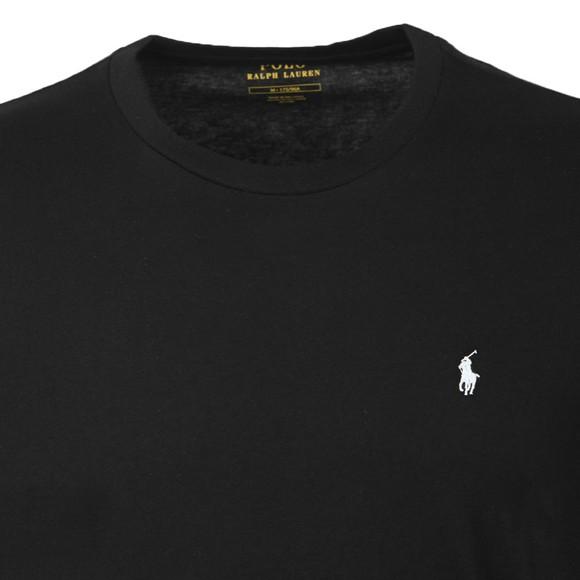 Polo Ralph Lauren Mens Black Long Sleeve Sleep Crew Neck T-Shirt