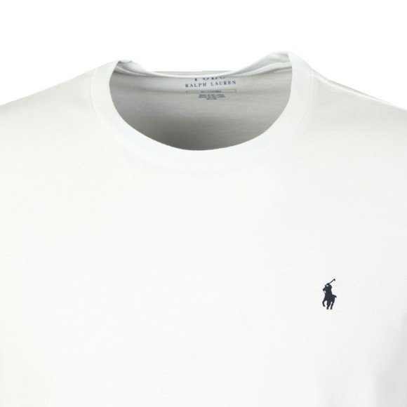Polo Ralph Lauren Mens White Long Sleeve Sleep Crew Neck T-Shirt