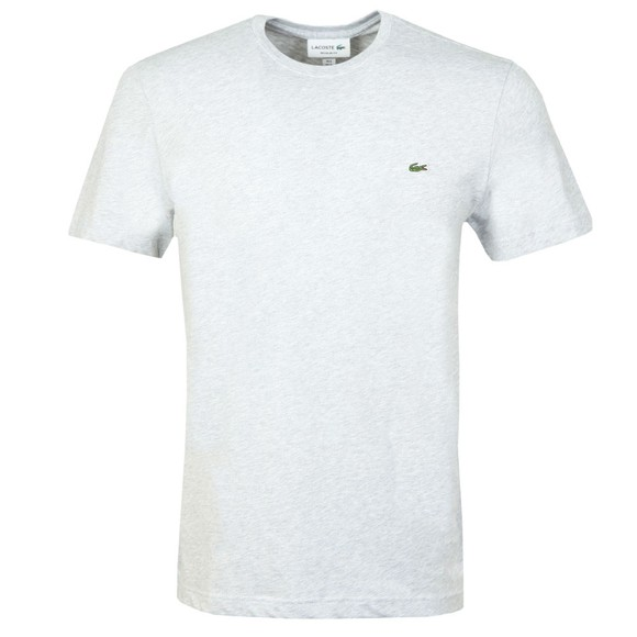 Lacoste Mens Grey TH2038 Plain T-Shirt