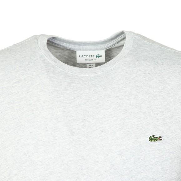 Lacoste Mens Grey TH2038 Plain T-Shirt