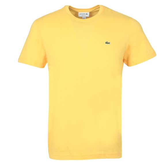 Lacoste Mens Yellow TH2038 Plain T-Shirt