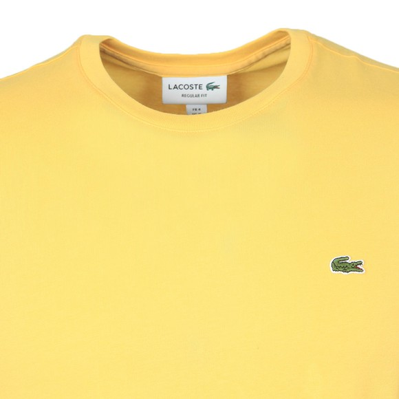 Lacoste Mens Yellow TH2038 Plain T-Shirt main image