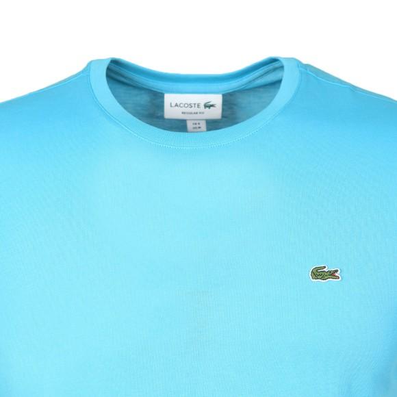 Lacoste Mens Blue TH2038 Plain T-Shirt main image