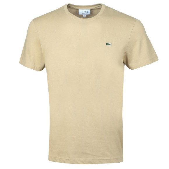 Lacoste Mens Beige TH2038 Plain T-Shirt