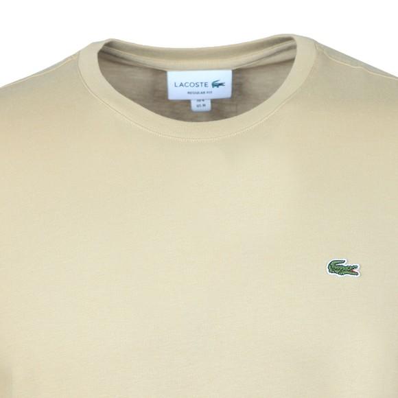 Lacoste Mens Beige TH2038 Plain T-Shirt main image